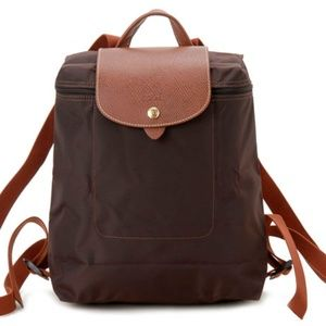 🆕Longchamp Le Pliage Backpack Chocolate      G305